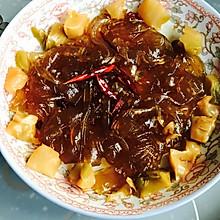 炒宽粉咸菜