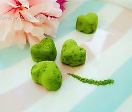 一抹清新绿——抹茶生巧的做法