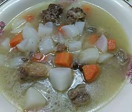 老鸭萝卜汤的做法