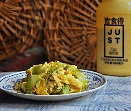 #植物蛋 美味尝鲜记#植物蛋炒半生瓜的做法