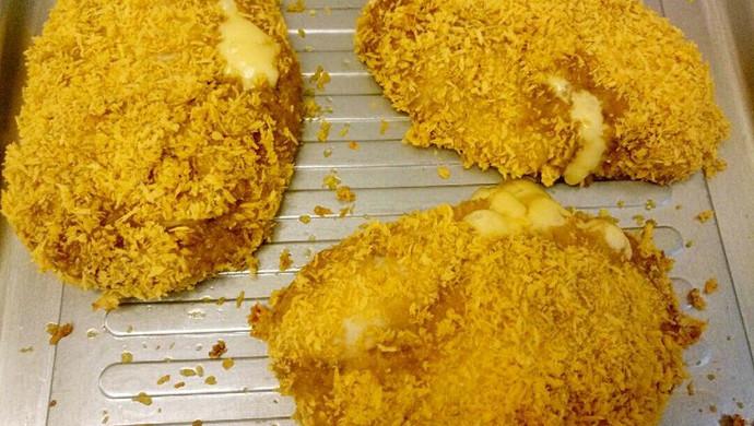 烤箱爆浆鸡排非油炸