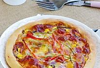 风味腊肠芝心披萨的做法