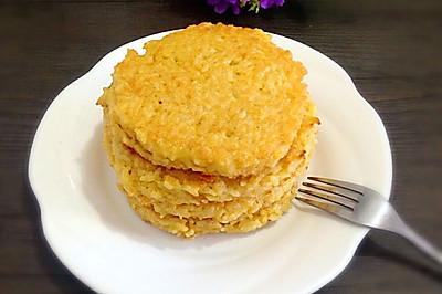 米饭煎饼#快速早餐#