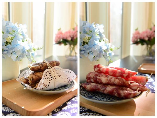 家常菜-传统广式香肠和川味香肠新年快乐的做法