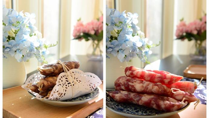 家常菜-传统广式香肠和川味香肠新年快乐