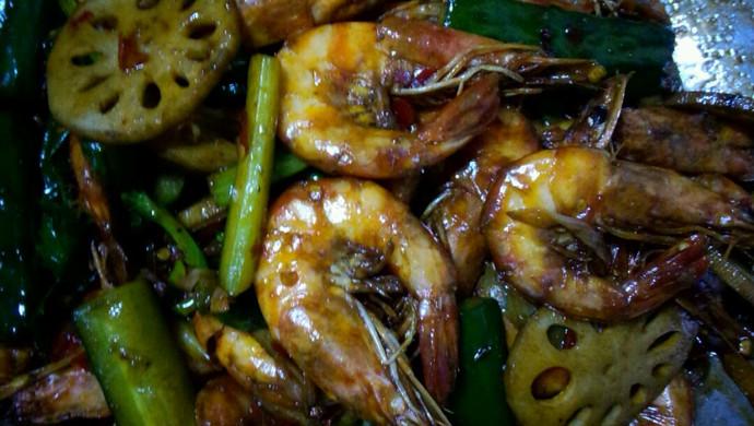 家庭版干锅香辣虾(超过很多酒店的味道)