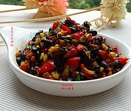 冬天开胃菜,香葱豆豉辣椒的做法