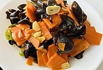 青椒木耳胡萝卜的做法