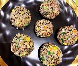 减脂三色藜麦饭团子的做法