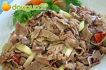 葱爆羊肉片
