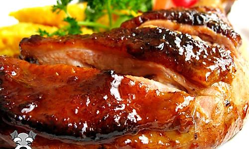 DIY肉嫩多汁的烧鸭腿儿玉米饼的做法