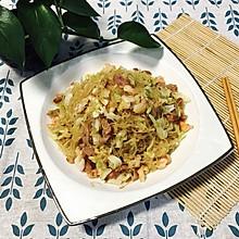 炒粉丝—鲜虾火腿圆白菜