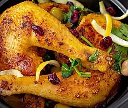 咸柠檬烤鸡|焦脆喷香的做法