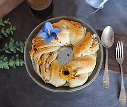 蔓越莓椰蓉花环面包#令人羡慕的圣诞大餐#的做法