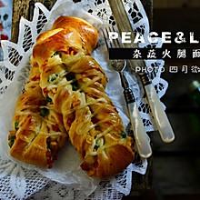 杂蔬火腿面包