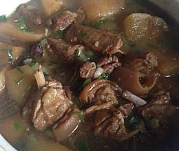红烧羊肉炖萝卜—冬季暖身的做法