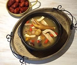 椰子板栗鸡爪汤#樱花味道#的做法