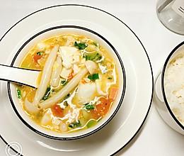 小宝宝海鲜菇豆腐汤的做法