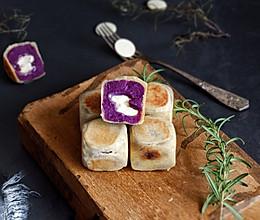 白巧紫薯仙豆糕的做法