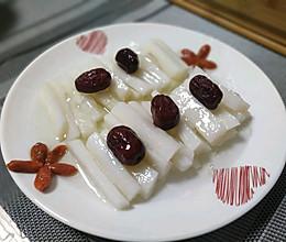 芦荟蜂蜜山药拼盘的做法