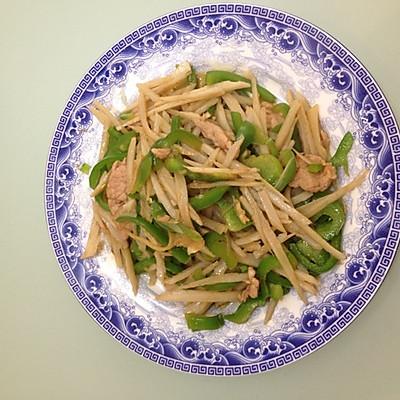 莲藕青椒炒肉片