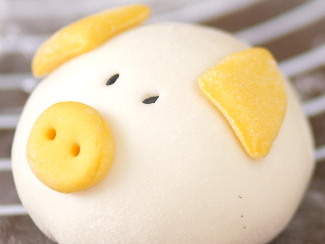 小猪豆沙包