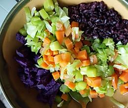 好吃到爆的月子餐减肥餐素菜拌饭的做法