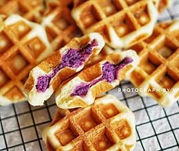 紫薯华夫饼~听说多吃紫薯能抗衰老!的做法
