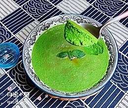 #炎夏消暑就吃「它」# 菠菜鸡蛋糕(豆浆水蛋版)的做法
