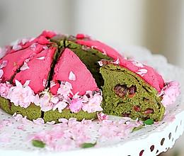 抹茶蔓越莓蒸蛋糕的做法