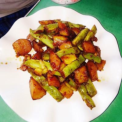 农家菜芸豆炖土豆(超级简单好吃)