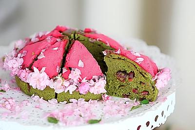 抹茶蔓越莓蒸蛋糕