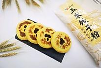 #年味十足的中式面点#无油奶香玉米豆沙饼的做法