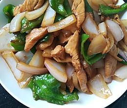 青辣椒炒鸡胸的做法