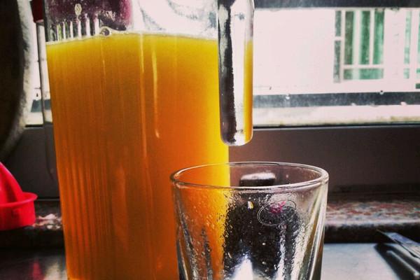 可口的芒果汁的做法