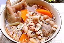 花生鸡脚汤的做法