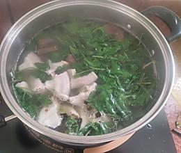 真珠花菜猪杂瘦肉猪血汤——清肺解毒的做法