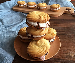棉花糖淋酱夹心曲奇饼干的做法