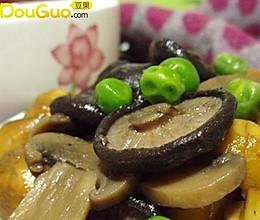 板栗青豆炒双菇的做法