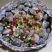 锡纸烤蛤蜊的做法图解7