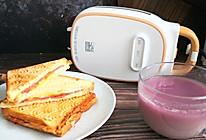 #全电厨王料理挑战赛热力开战!#快手早餐鸡蛋培根三明治的做法