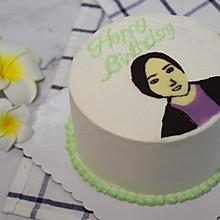 人物转印生日蛋糕