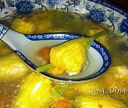 酿南瓜花汤的做法