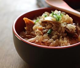 懒人餐--鸡腿拌了个饭的做法