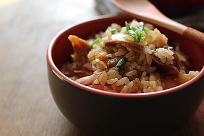 懒人餐--鸡腿拌了个饭