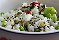 雪菜蚕豆炒饭的做法