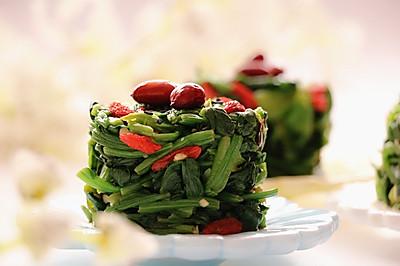 春食菠菜正当时|芝麻枸杞菠菜