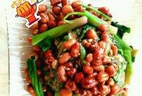 麻酱拌菠菜花生米的做法