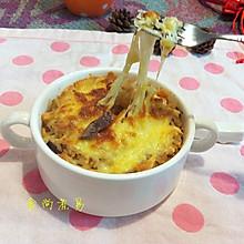 黑椒牛肉粒芝士焗饭