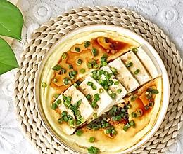 #夏日消暑,非它莫属#豆腐蒸蛋的做法